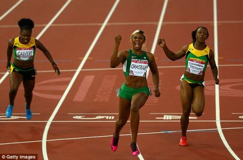 Blessing Okagbare wins Commonwealth Games gold for Nigeria in women's 100m