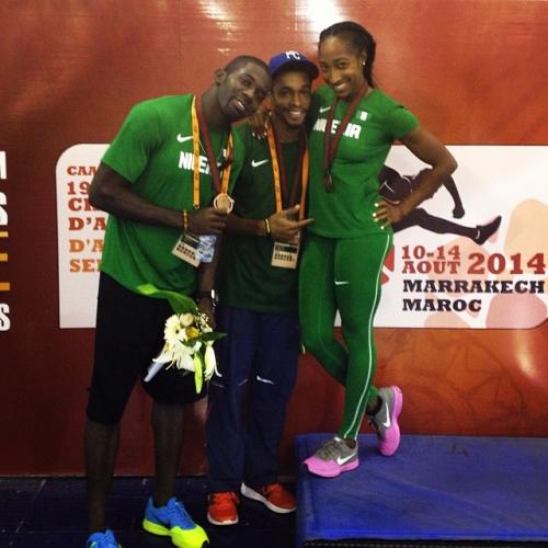 Nigeria Wins Gold and 2 Silver on Day 2 of African Athletics