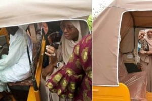 Aisha Buhari charges women to embrace education... rides in Keke NAPEP
