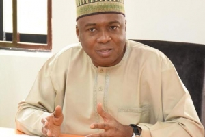 Saraki speaks on NASS siege, plot to unseat him in world press conference