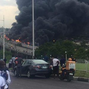 Police recover 10 charred bodies as tanker fire on Lagos bridge consumes 67 vehicles