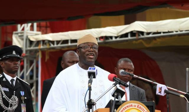 Fayemi sworn in as Ekiti governor, vows to review Fayose's govt
