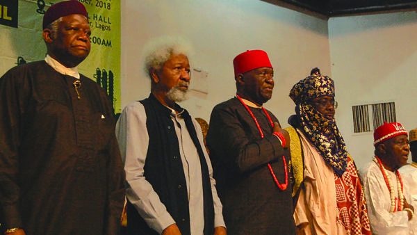​​Restructuring of Nigeria unstoppable​, now or never​ - Soyinka, Nwodo, Adebanjo
