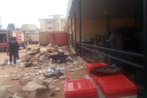 INEC: 4,695 card readers razed in Anambra office fire