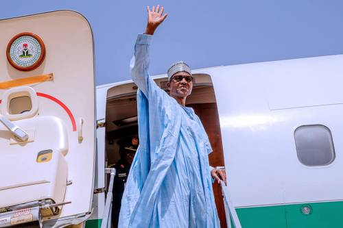 Buhari departs for London summit