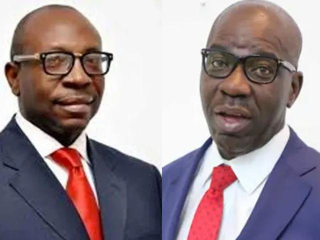 As drumbeats for Edo 2020 emit staccato sound, 5 fingers point to Ize-Iyamu, 3 point to Obaseki