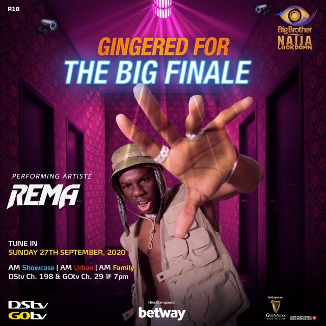Rema, Fireboy to headline BBNaija's grand finale