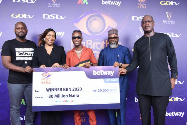 BBNaija 2020: Laycon receives N30m cash prize, others
