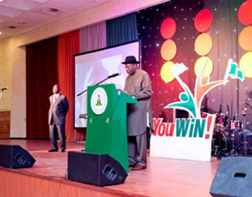 President Jonathan's Remarks at The Launch Of The 3rd Edition Of Youwin
