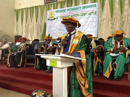 A STANDING OVATION FOR THE OUT-GOING VC OF CRESCENT UNIVERSITY, ABEOKUTA