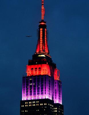 New York's Empire State lights up on 1st Anniversary of Missing Girls