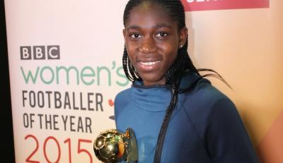 Asisat Oshoala wins BBC women's footballer of the year award
