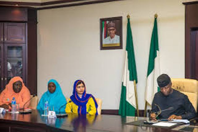 Malala Yousafzai visits Osinbajo, wants emergency declared on Nigeria's education sector