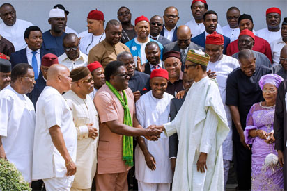 South-East APC leaders meet Buhari, endorse President for re-election