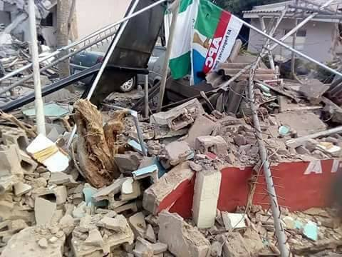Kaduna govt demolishes APC's factional secretariat, gives reason for action