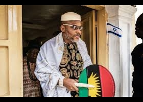 2019: Nnamdi Kanu's wife wants attention to be on husband's whereabouts